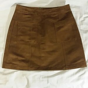 Old Navy Tan Suede-like Mini Skirt Sz. 4